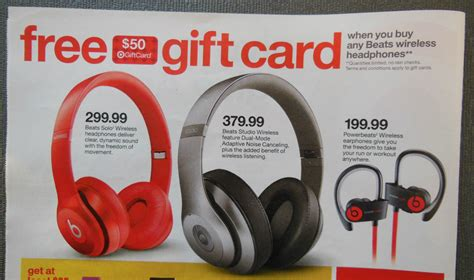 Gift Card Ad - 50 target gift card truth in advertising
