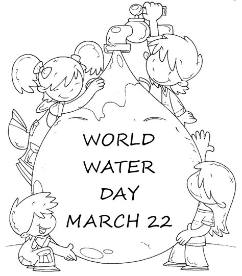 coloring page saving water world water day coloring page activity earth day