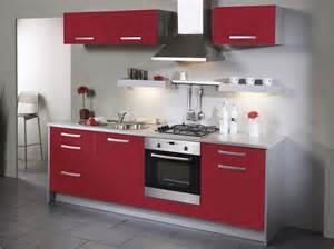 Design Of Modular Kitchen Cabinets Cuisine Rouge