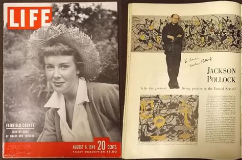 biography of artist jackson pollock copy of life magazine from 1949 signed by jackson pollock