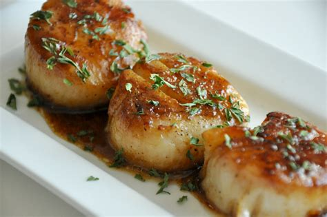 pan seared scallops with japanese spicy onion sauce ginger seared scallops saucey sauce saucey sauce