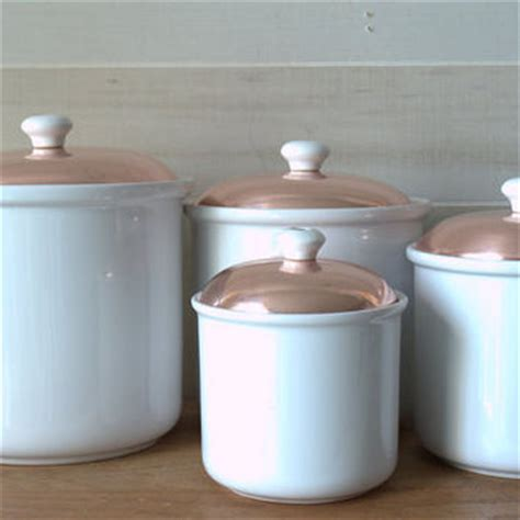white kitchen canister best copper canister set products on wanelo