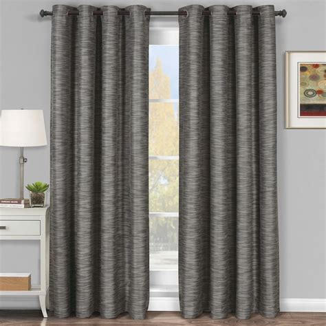 curtains grey gray galleria grommet blackout tonal stripe window curtain