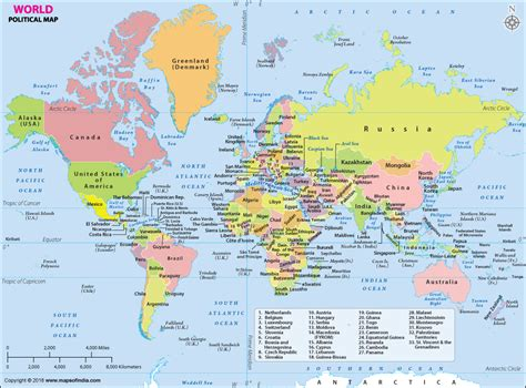 show a map world map political map of the world