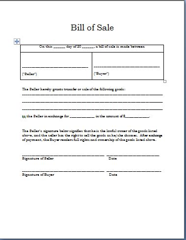 bill of sale template for sale as is form new calendar template site