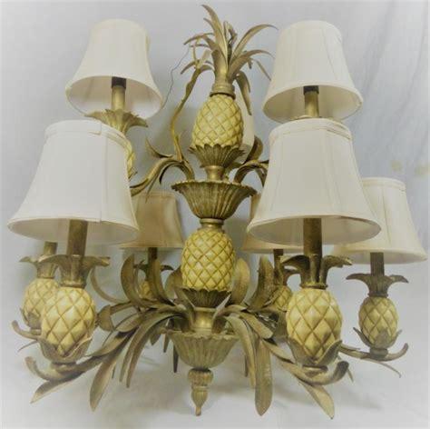 vintage 9 light pineapple chandelier