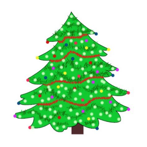 vector art decorated christmas tree cut outs zazzle