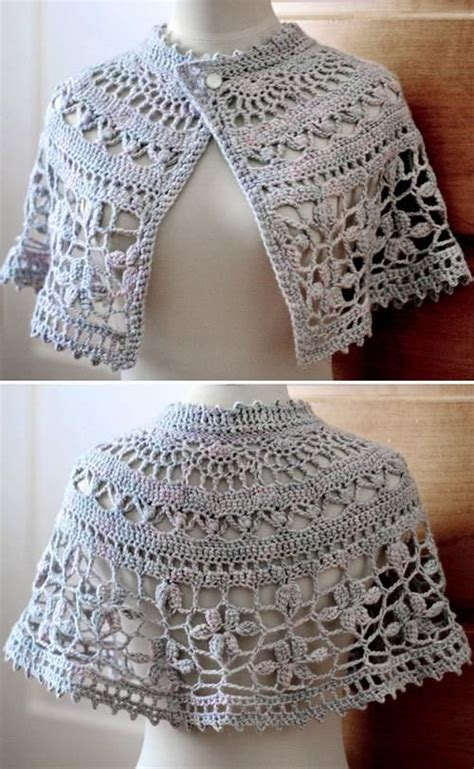 Crochet Shawls Crochet Shawl Wrap Pattern Capelet   crochet shawls crochet free pattern of nice capelet