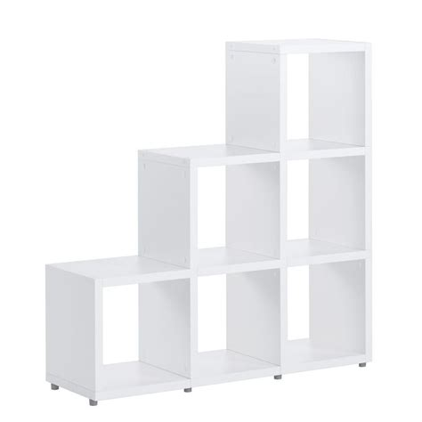 white step cube shelving 5x5