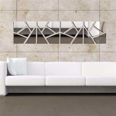 wall decor mirrors deboto home design the beauty of mirror wall moza 8lot set creative fashion acrylic mirror wall