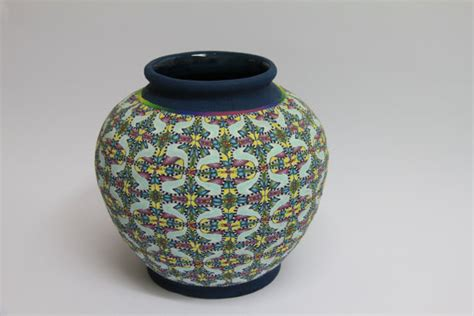 polymer clay home decor items similar to round polymer clay vase home decor