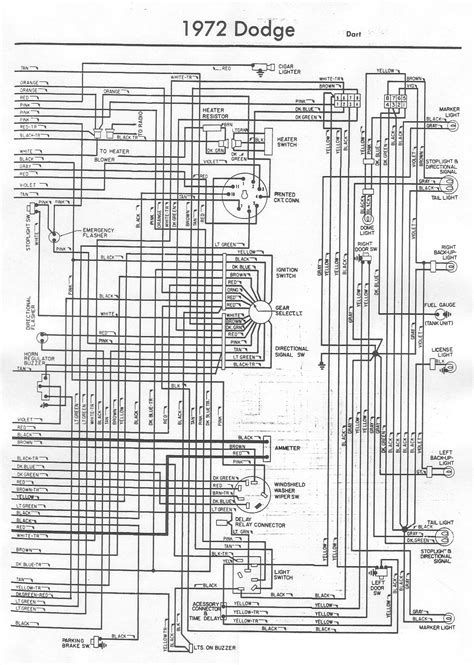 1972 dodge dart wiring diagram 1972 dodge wiring diagram 1972 free engine image for