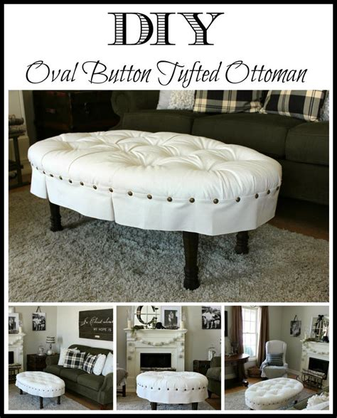 round tufted ottoman diy diy oval button tufted ottoman eclectic diy craft