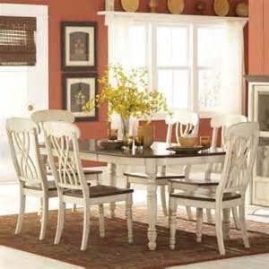 Rectangle Dining Table Set Homelegance Ohana 7 Rectangle Dining Table Set White Cherry Walmart