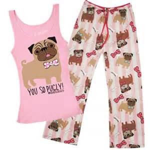 pug pajamas topshop you so pugly pajama set from david goliath pjs all day pajama