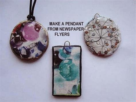 reuse gold to make new jewelry how to make a pendant from newspaper flyers recycle