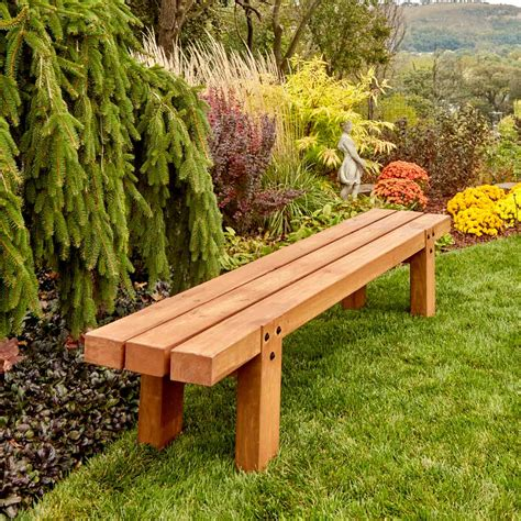 outdoor timber bench how to make simple timber bench the family handyman
