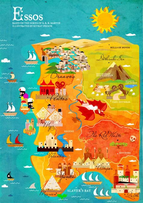 essos map a song of and a map of westeros and essos