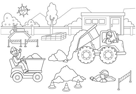construction coloring pages construction coloring pages search preschool