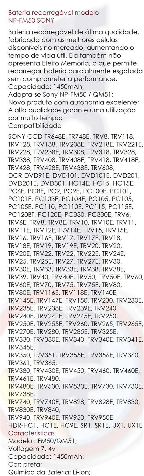 e d a1j bateria para sony np fm50 dsc r1 ccd trv126 gv d1000 hvr