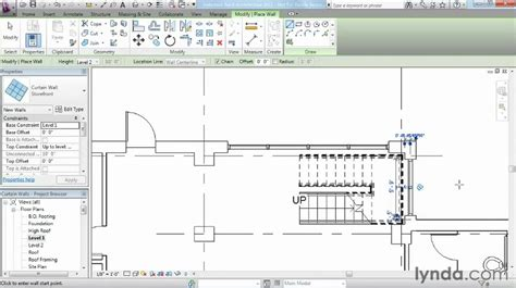 how to create a curtain wall in revit revit architecture how to add curtain walls lynda com