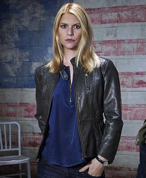 claire danes spiderman claire danes homeland carrie mathison black leather jacket