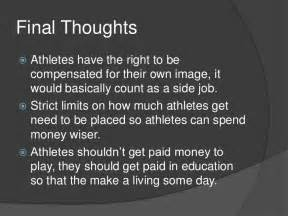 College Athletes Should Get Paid Essay by Paying College Athletes