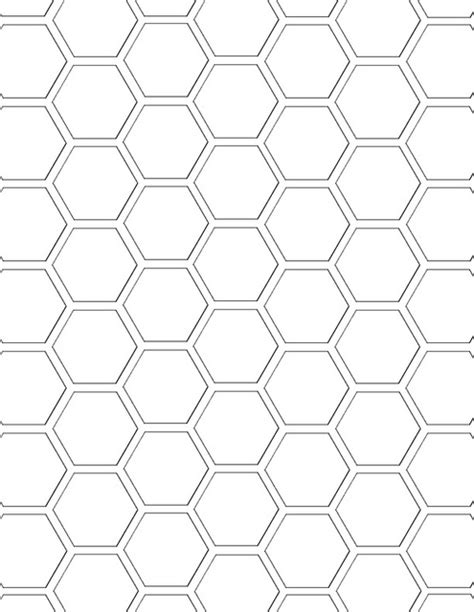 4 inch hexagon template best photos of honeycomb coloring page printable honey