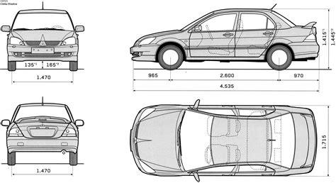 mitsubishi lancer drawing car blueprints mitsubishi lancer cedia blueprints