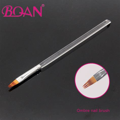 Ombre Pro Nail Brush bqan new design 6 professional nail brush acrylic handle painting ombre brush in rests
