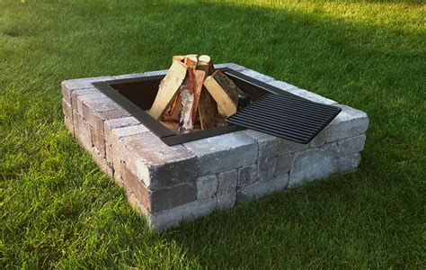 Victorian Stone Outdoor Wood Burning Fire Pit Kit
