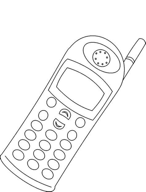 draw mobile medios de comunicacion para colorear y pintar