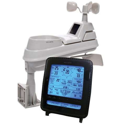 shop acurite digital weather station with clock and