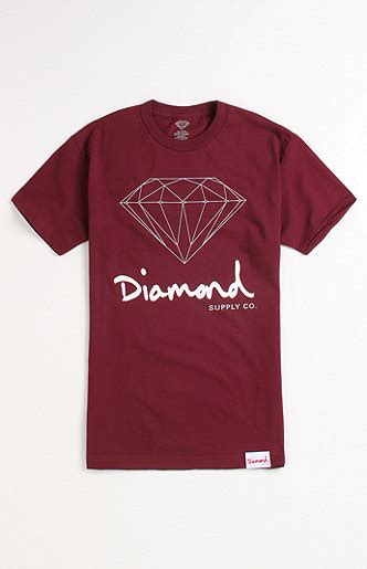 diamond supply co mill tee at pacsun com from pacsun tops diamond supply co script logo tee at pacsun com