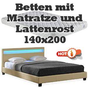 betten mit matratze und lattenrost günstig kaufen betten 140x200 mit matratze my