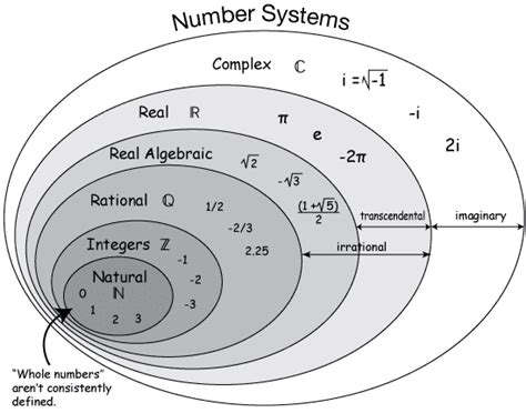 diagram of a real number system contundente