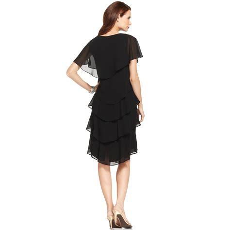 patra sleeve tiered dress in black lyst