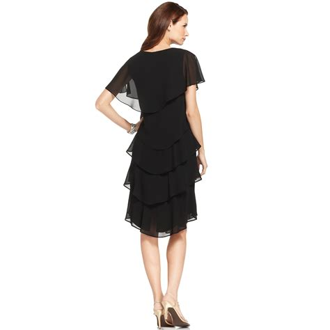Patra Short sleeve Tiered Dress in Black   Lyst