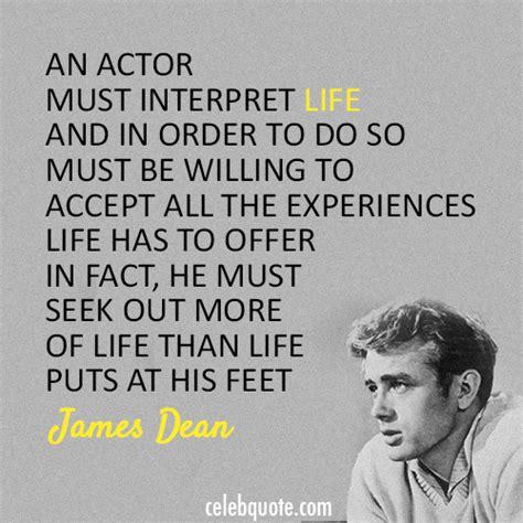 james dean quote acting actor