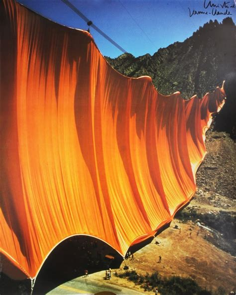 christo and jeanne claude valley curtain valley curtain rifle colorado 1970 1972 by christo and