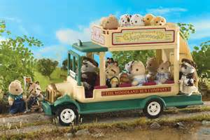 Sylvanian families woodland bus traditional double decker bus