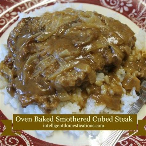 oven baked smothered cube steak recipes to cook pinterest