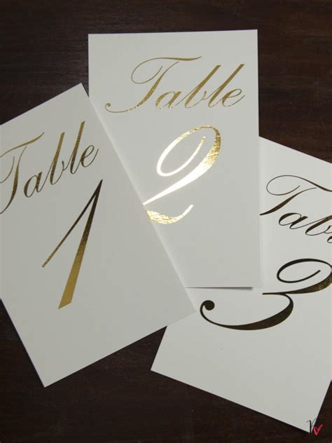 gold wedding table numbers gold foil table numbers names set personalised gold