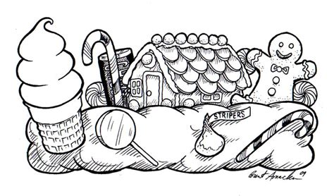 candyland castle coloring page mardi gras 3