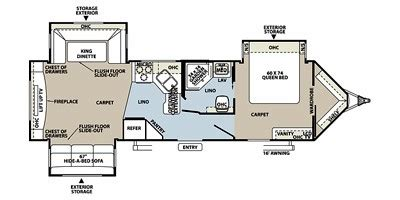 fuzion floor plans flagstaff v lite travel trailers 2011 flagstaff v lite series m 30wrlts specs and standard