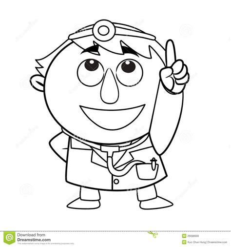 cute doctor coloring page outlined cute doctor stock photo cute doctor coloring page