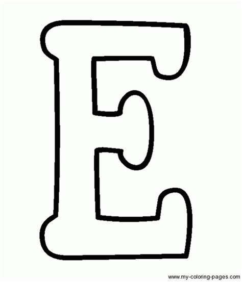 E Coloring Page Printable by Coloring Capital Letters E Vbs Lettering