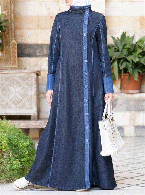 Gamis Denim Modern denim yusra jilbab sale corner