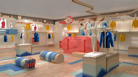Fancy Store Interior Design by Wooden Made Clothes Store Fixture Clothing Store