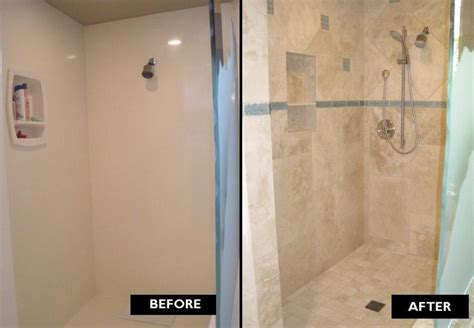 tile before or after fitting bathroom authentic durango veracruz shower before after